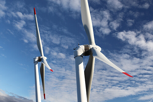 image of wind turbines